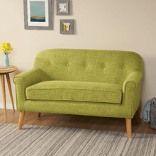 Load image into Gallery viewer, Mid Century Love-seat Sofa Wood Beech Color - Plugsusa