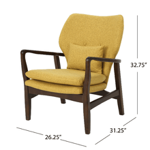 Load image into Gallery viewer, Mid Century Modern Fabric Club Chair - Plugsusa