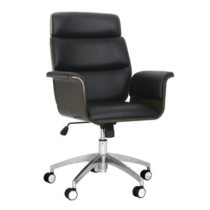 Mid-Century Modern Swivel Office Chair Bentwood Design - Plugsus Home Furniture