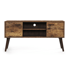 Load image into Gallery viewer, Mid Century Modern Tv Stand with 2 Doors & Shelf - Plugsusa