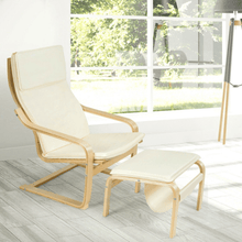 Load image into Gallery viewer, Mid Century Relax Bentwood Lounge Chair Set with Magazine Rack - Plugsusa