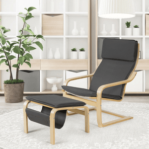 Mid Century Relax Bentwood Lounge Chair Set with Magazine Rack - Plugsusa