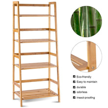 "Load image into Gallery viewer, Modern Bamboo Bookshelf 47.5"" - Plugsusa"