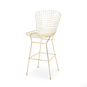 Modern Barstool Gold and Gunmetal Glam Iron - Plugsus Home Furniture
