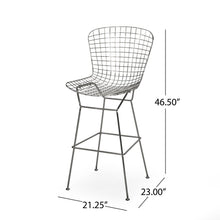 Load image into Gallery viewer, Modern Barstool Gold and Gunmetal Glam Iron - Plugsus Home Furniture