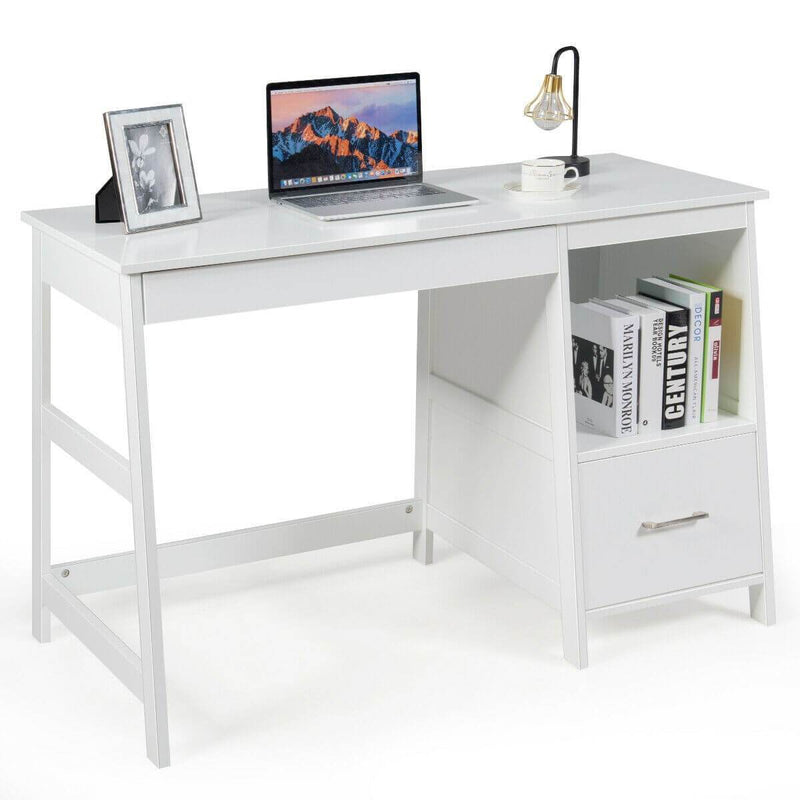 "Modern Home Computer Desk with 2 Storage Drawers 47.5"" - Plugsus Home Furniture"