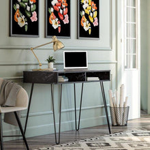 Load image into Gallery viewer, Modern Marble Office Desk with Storage - Plugsusa