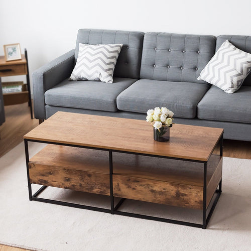 Modernity Coffee Table With Shelf and 2 Drawers 47