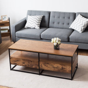 "Modernity Coffee Table With Shelf and 2 Drawers 47"" - Plugsusa"