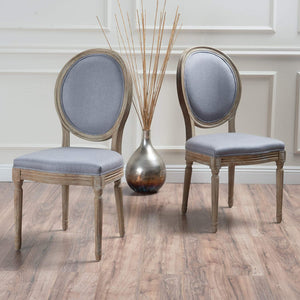 Phinnaeus Classic Decor Fabric Dining Chairs 2-Pcs Set - Plugsusa