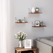 Load image into Gallery viewer, Rustic Floating Shelves Set of 3 - Plugsus Home Furniture