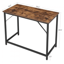 "Load image into Gallery viewer, Small Rustic Computer Desk 39"" - Plugsusa"