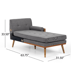 Sofa Mid Century Sectional Style Modern L Shaped With Walnut Details - Plugsusa
