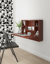 Load image into Gallery viewer, Wall Mounted Folding Laptop Desk Hideaway Storage with Drawer - Plugsusa