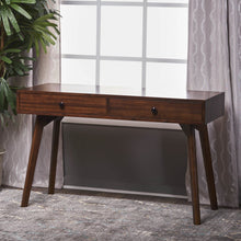 Load image into Gallery viewer, Wooden Rustic Office Desk with 2 Drawers - Plugsus Home Furniture