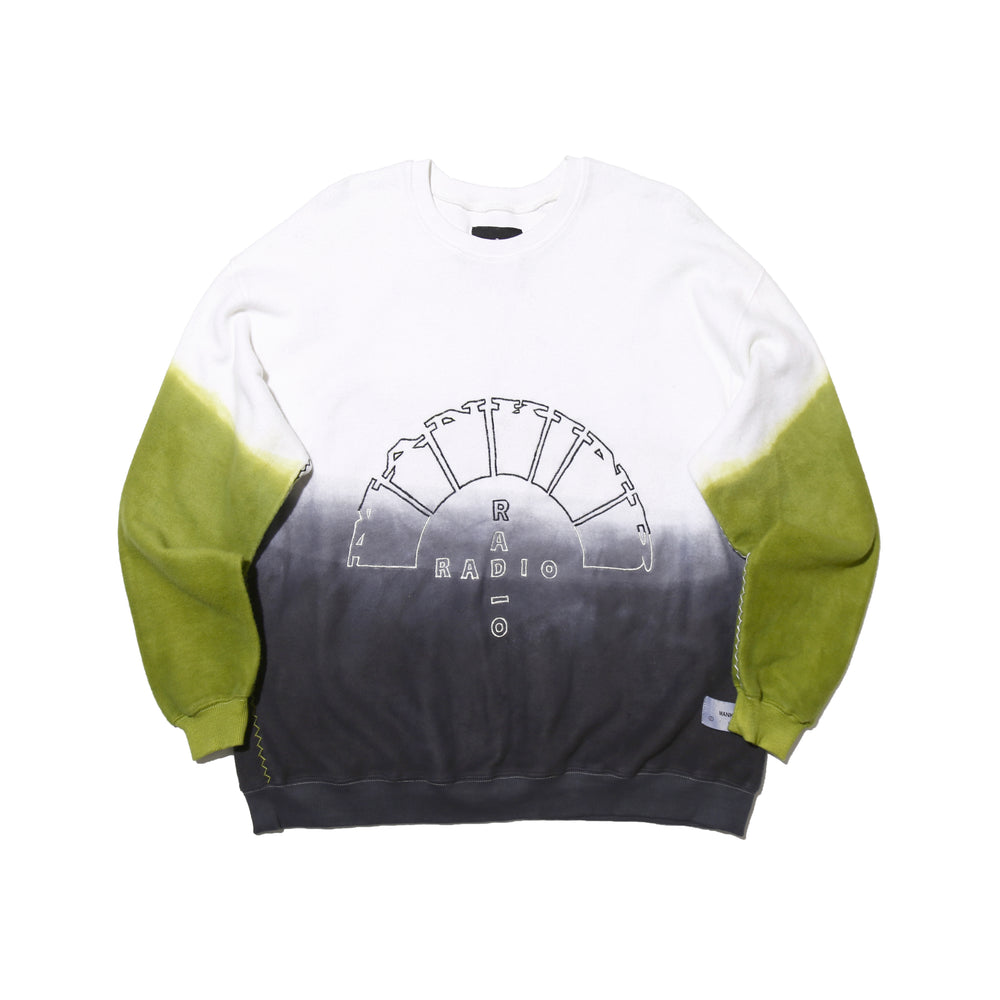 Load image into Gallery viewer, MANKIND RADIO WHITE DEEP DYE - CREWNECK