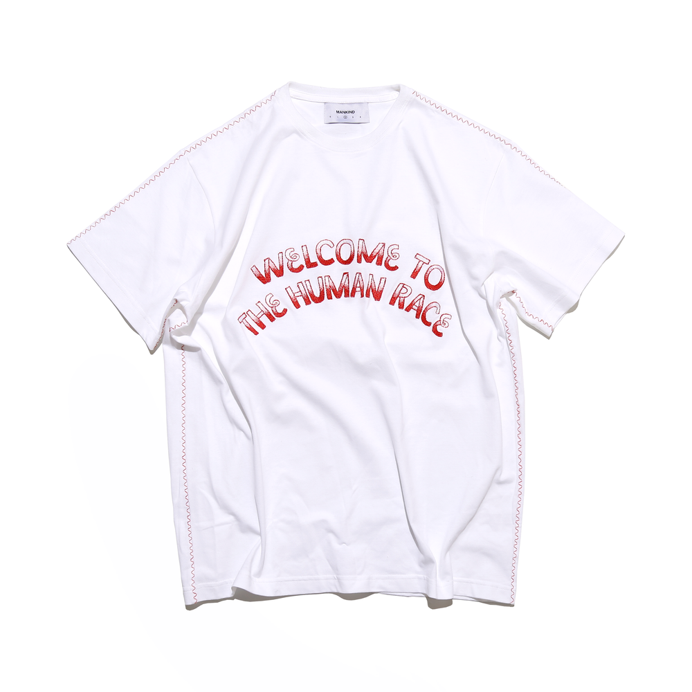 Load image into Gallery viewer, FONDNESS WHITE - SHORTSLEEVE T-SHIRT
