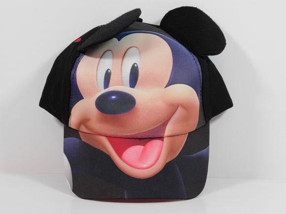 Disney Mickey Face Ballcap With Ears