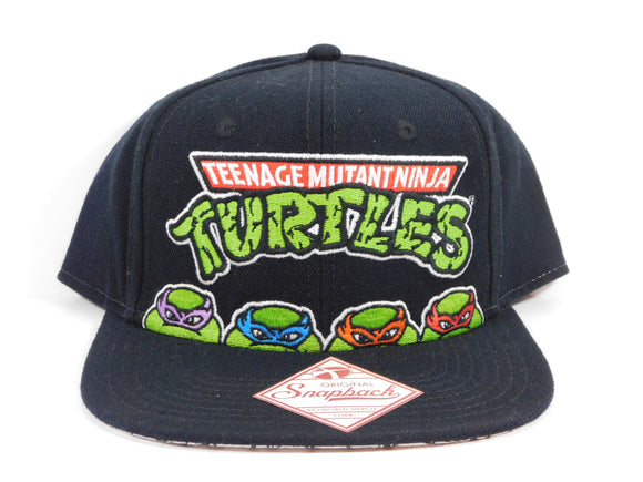 TMNT Title With Heads Snapback