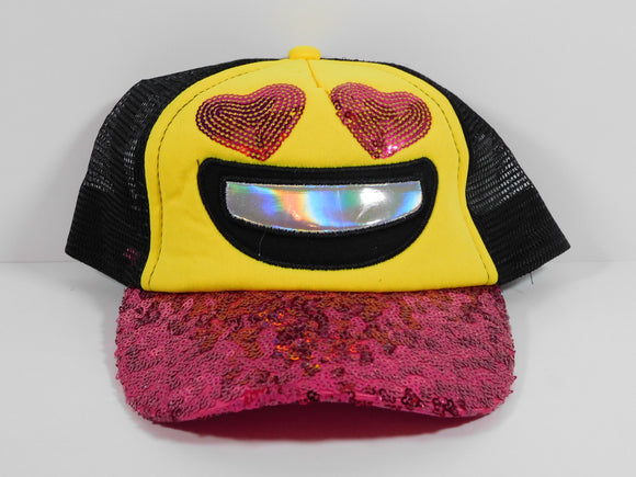 Emoji Heart Eyes Snapback