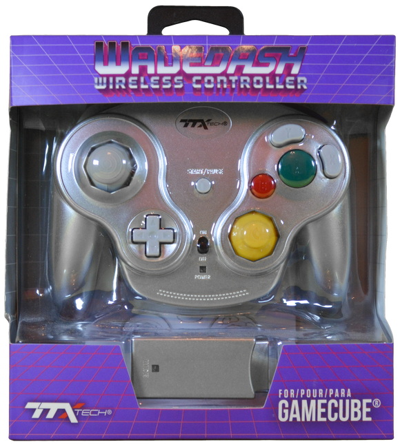 Gamecube Wavedash Wireless C/R Silver [TTX]