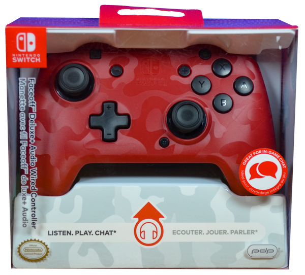 Switch Red Camo Faceoff Wired C/R [PDP]