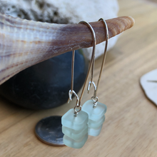 Load image into Gallery viewer, Sea Foam Swing Earrings