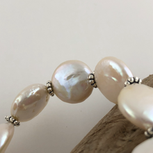 Load image into Gallery viewer, Coin Pearl And Sterling Silver Bracelet