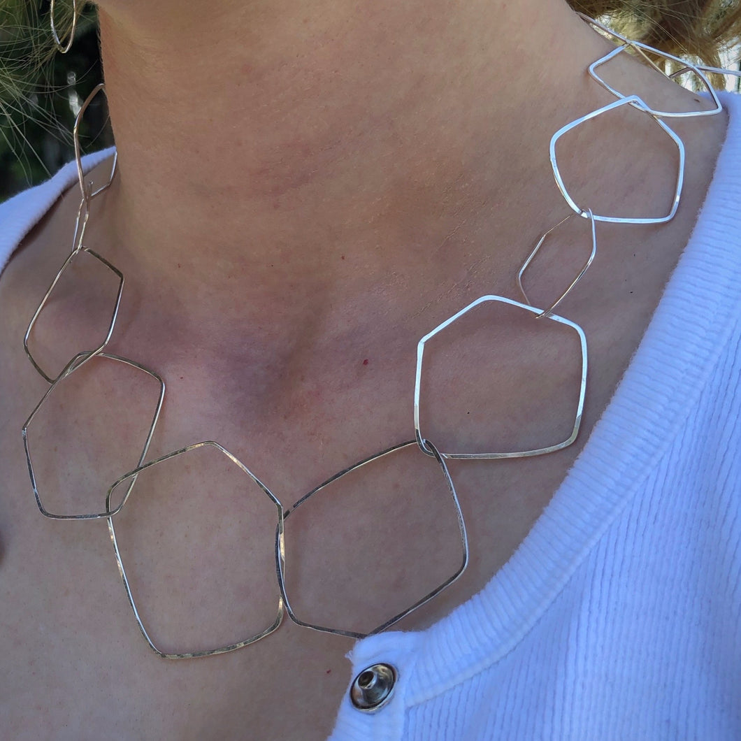 Signature Wonky Pentagons Necklace, 20 inches