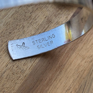 Hand-Hammered Sterling Silver Cuff Bracelet