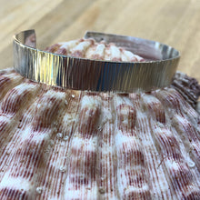 Load image into Gallery viewer, Hand-Hammered Sterling Silver Cuff Bracelet