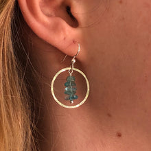Load image into Gallery viewer, Full Moon Earrings With Natural Aqua Apatite