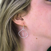 Load image into Gallery viewer, Wonky Pentagons Double Helix Earrings