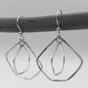 Wonky Pentagons Double Helix Earrings