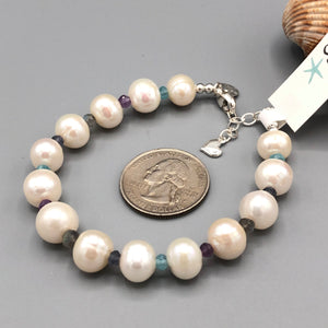 Surf Swell Pearl and Gemstone Bracelet