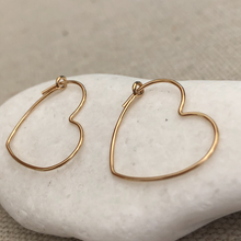 Load image into Gallery viewer, Gold Filled Sweetheart Earrings
