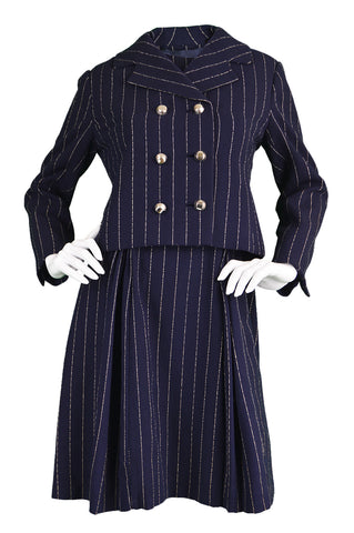 Vintage Bill Blass Pinstripe Dress Suit