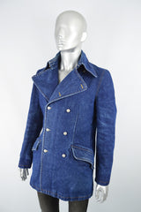 Vintage Katharine Hamnett denim jacket for men at Zeus Vintage