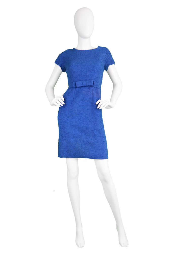 1960s jacques heim blue wool dress