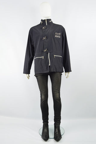 Men's Vintage Techwear Hook & Eye Raincoat, 1990s