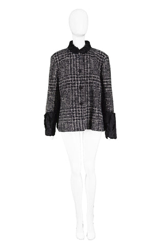Black & White Persian Lamb Trim Jacket, 1990s