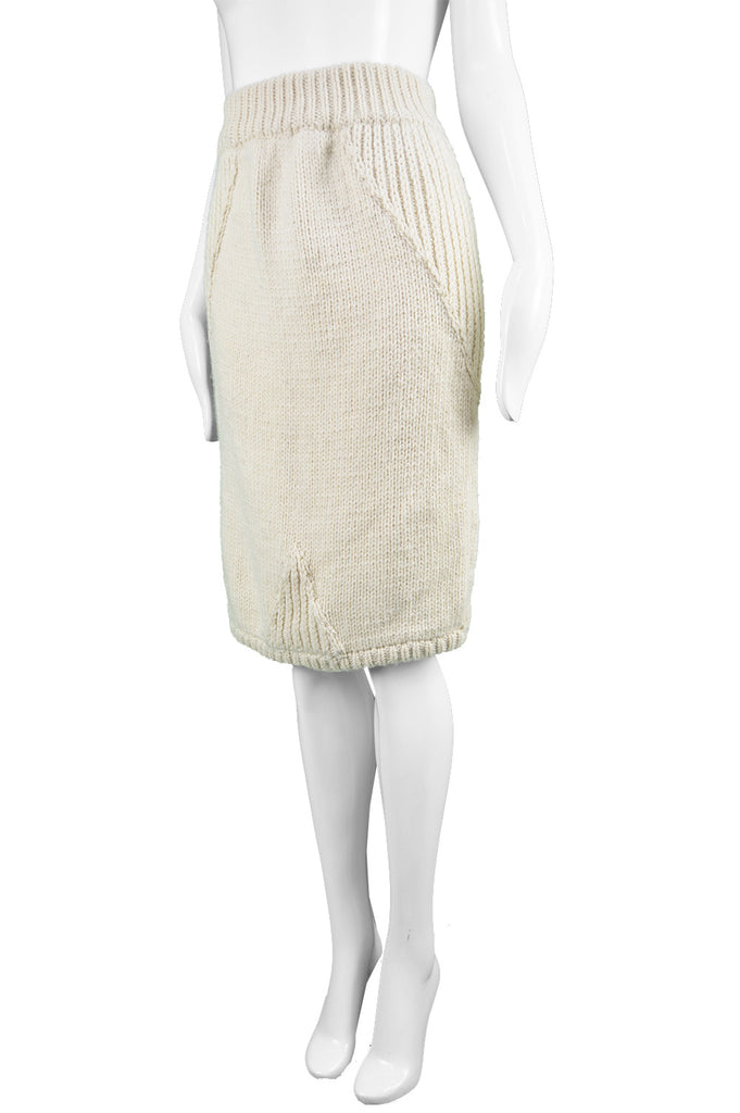 Cable Knit Pencil Skirt, 1980s