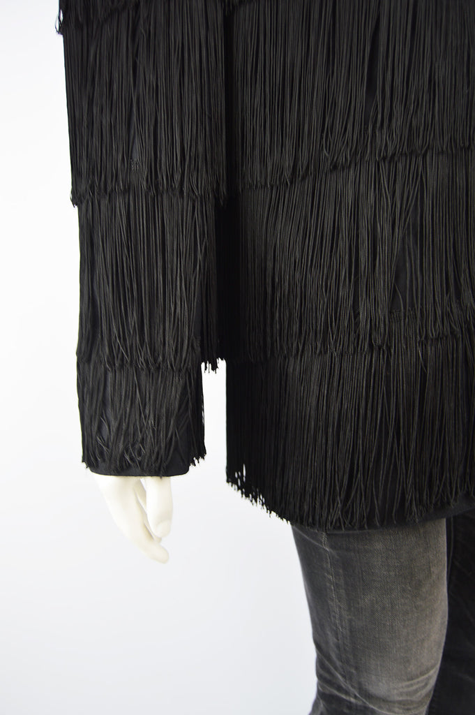 Men's Vintage Fringed Blazer Jacket, 1990s