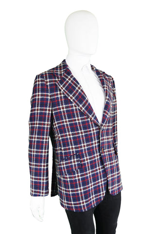 Blue, White & Red Vintage Checked Jacket, 1960s