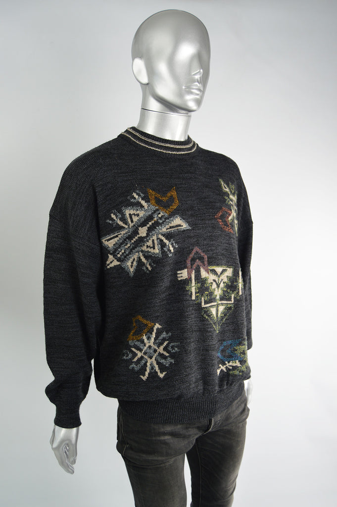 Vintage Crew Neck Oversized Sweater, 1980s