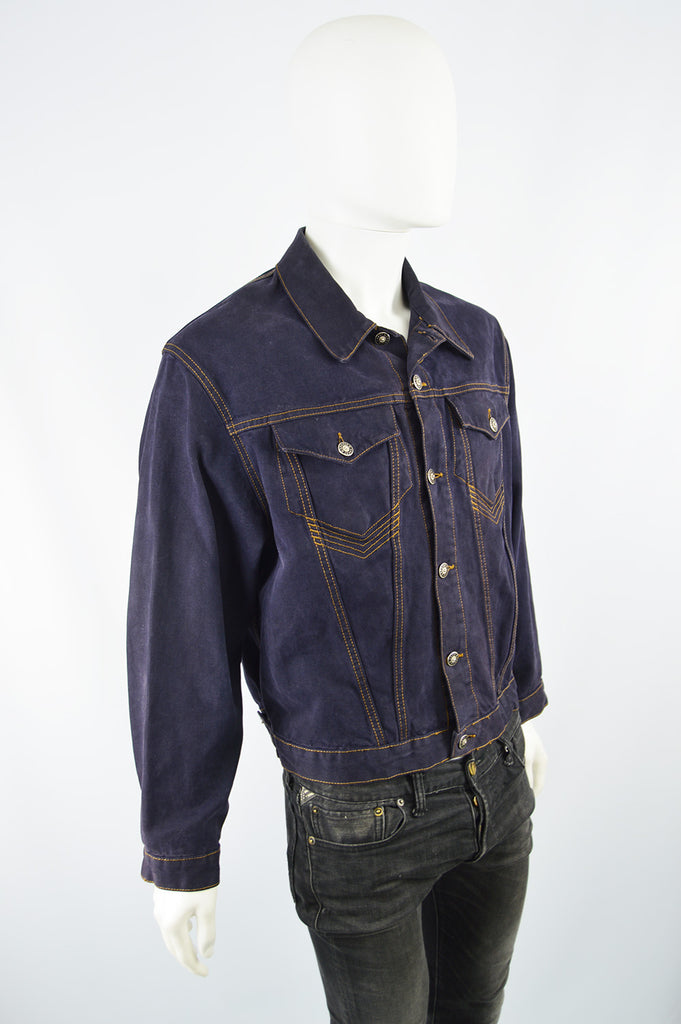Men's Vintage Indigo Denim Jacket, 1990s