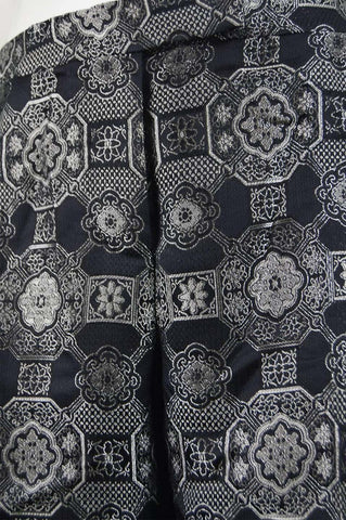 Vintage Womens Black & Silver Brocade Trousers, A/W 2003