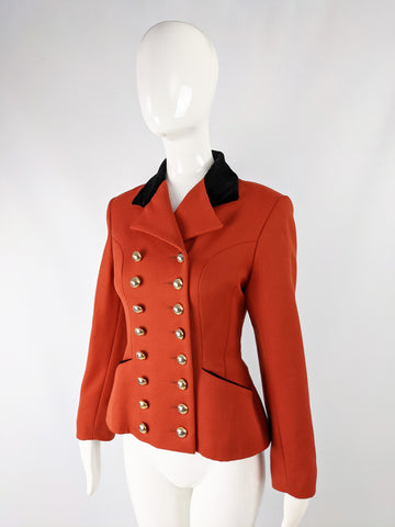 Womens Vintage Hunting Style Tailored Jacket, 1980s