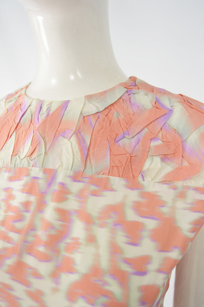 Cloqué Graphic Print Peach & Purple, Spring 2014