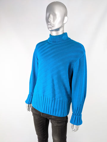 Mens Vintage Alternating Ribbed Sweater, 1990s